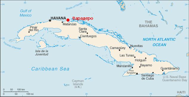 Karte Kuba Varadero.варадеро на карте мира и кубы